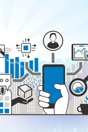 IoT-Industry-4.0-flat-illustration